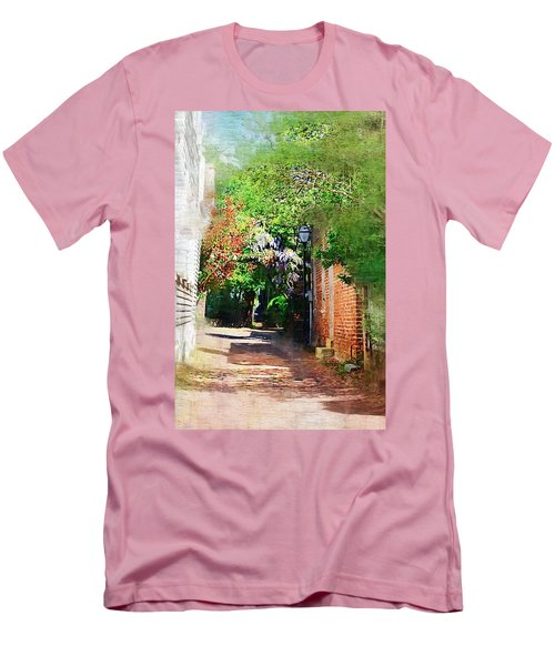 Men's T-Shirt (Slim Fit) featuring the photograph Charlestons Alley by Donna Bentley