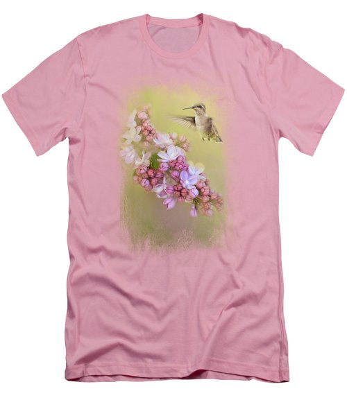 Chasing Lilacs Men's T-Shirt (Slim Fit) by Jai Johnson