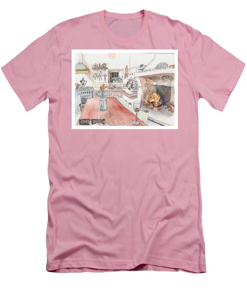 Men's T-Shirt (Slim Fit) featuring the painting Chez Gwen by Tilly Strauss