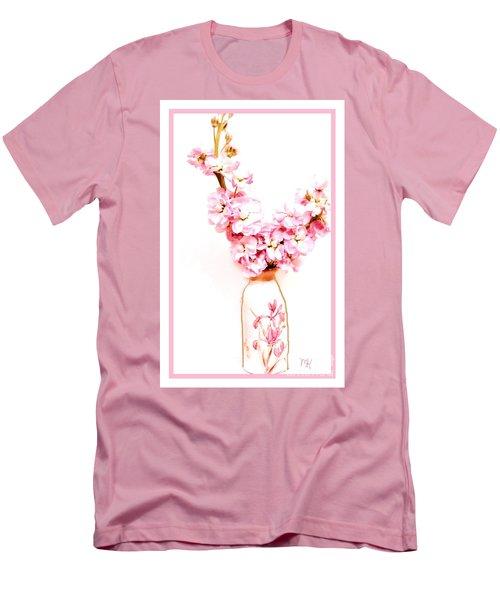 Men's T-Shirt (Slim Fit) featuring the digital art Chinese Bouquet by Marsha Heiken