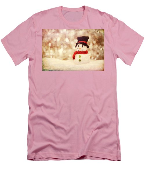 Men's T-Shirt (Athletic Fit) featuring the photograph Christmas Snowman by Bellesouth Studio