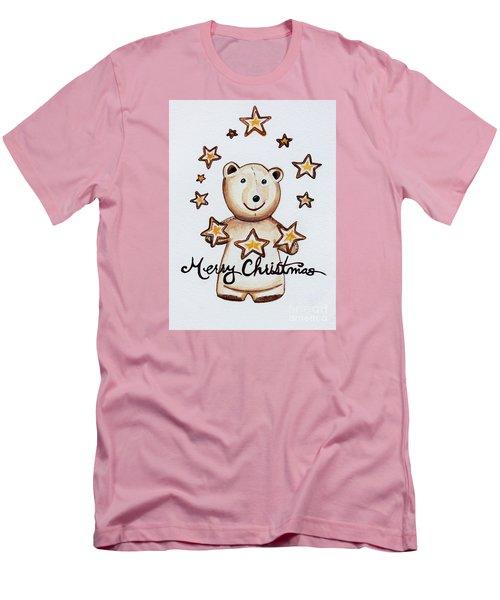 Christmas Stars Men's T-Shirt (Slim Fit) by Elizabeth Robinette Tyndall