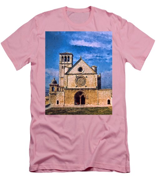 Men's T-Shirt (Slim Fit) featuring the photograph Church Of Assisi by Trey Foerster