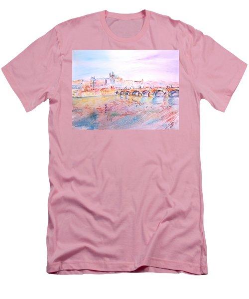 City Of Prague Men's T-Shirt (Slim Fit) by Elizabeth Lock