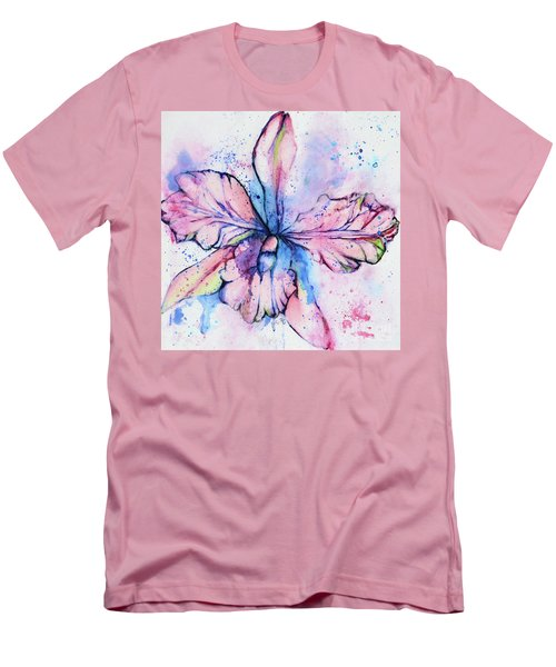 Colorful Orchid Flower Men's T-Shirt (Athletic Fit)