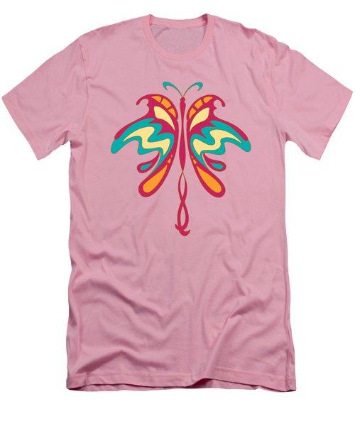 Colourful Art Nouveau Butterfly Men's T-Shirt (Athletic Fit)
