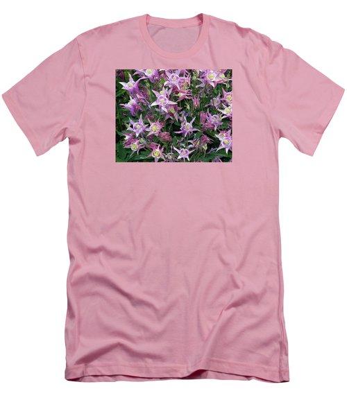 Men's T-Shirt (Slim Fit) featuring the photograph Columbine Splendor by Lynda Lehmann