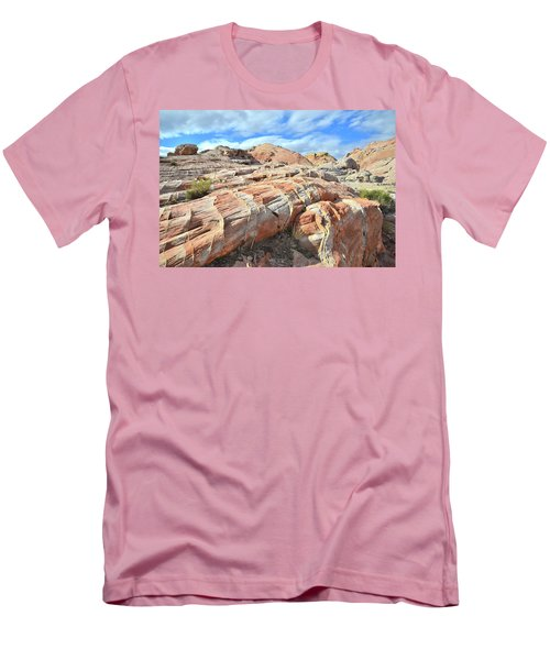 Concentric Color In Valley Of Fire Men's T-Shirt (Slim Fit) by Ray Mathis