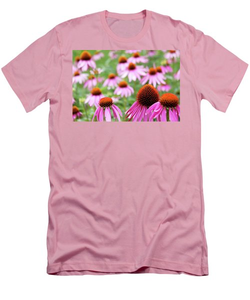 Men's T-Shirt (Slim Fit) featuring the photograph Coneflowers by David Chandler