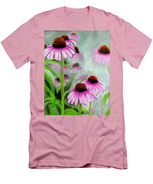 Coneflowers In The Mist Men's T-Shirt (Athletic Fit)