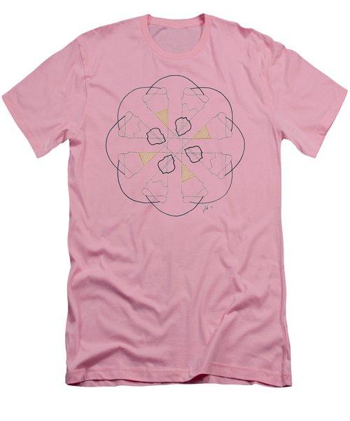 Cones - Dark T-shirt Men's T-Shirt (Slim Fit) by Lori Kingston