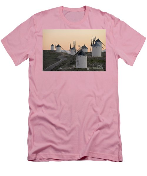 Men's T-Shirt (Slim Fit) featuring the photograph Consuegra Windmills by Heiko Koehrer-Wagner