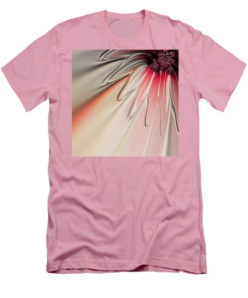Men's T-Shirt (Slim Fit) featuring the digital art Contemporary Flower by Bonnie Bruno
