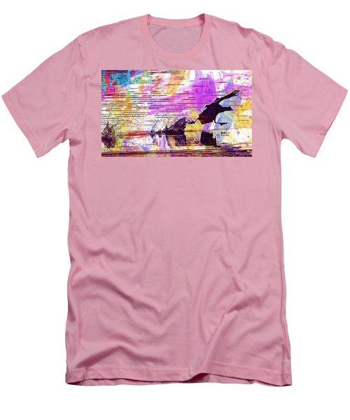 Men's T-Shirt (Athletic Fit) featuring the digital art Coot Bird Water Bird  by PixBreak Art