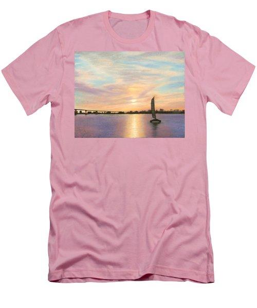 Coronado Bridge Sunset  B Men's T-Shirt (Athletic Fit)