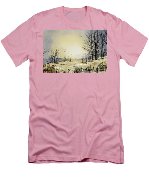 Men's T-Shirt (Slim Fit) featuring the painting Country Dawn by James Williamson