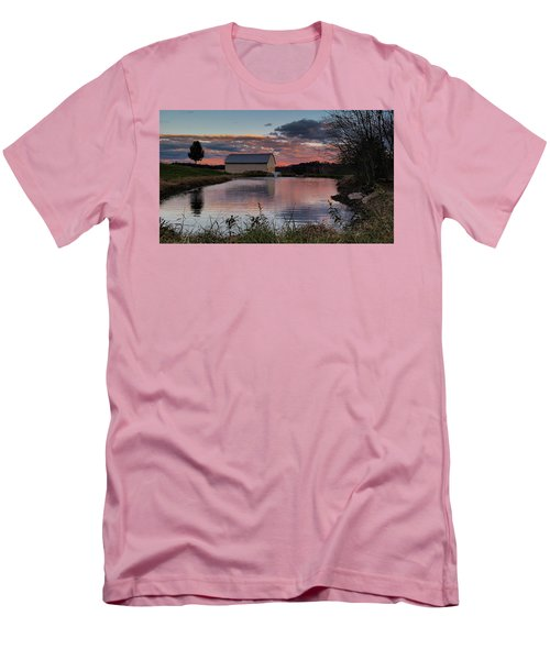 Men's T-Shirt (Slim Fit) featuring the photograph Country Living Sunset by Lara Ellis