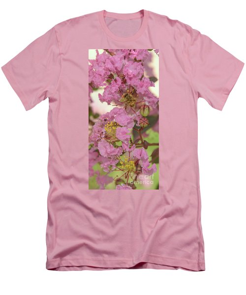 Crepe Myrtle And Bee Men's T-Shirt (Slim Fit) by Olga Hamilton