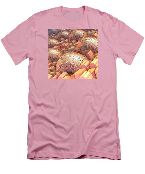 Men's T-Shirt (Slim Fit) featuring the digital art Crowded by Michelle H