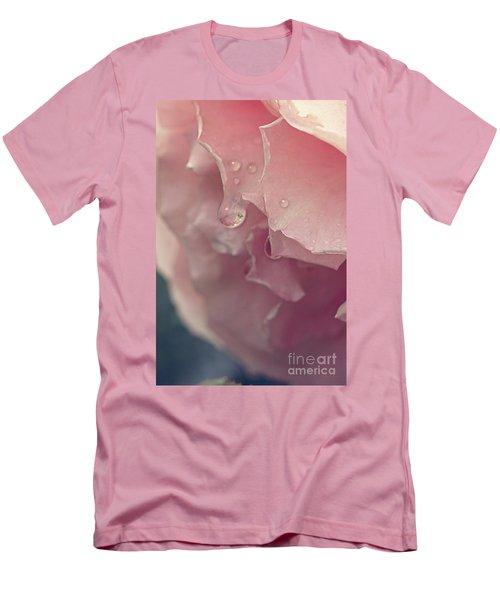 Crying In The Rain Men's T-Shirt (Slim Fit) by Linda Lees