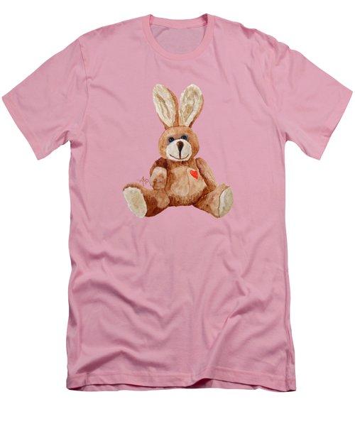 Cuddly Care Rabbit Men's T-Shirt (Slim Fit) by Angeles M Pomata