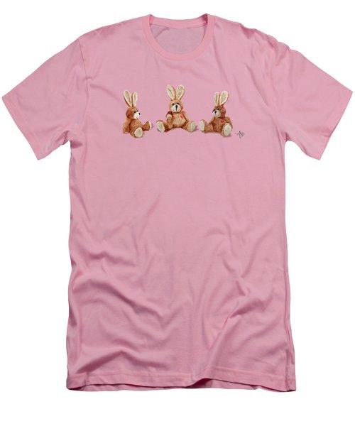 Cuddly Care Rabbit II Men's T-Shirt (Slim Fit) by Angeles M Pomata