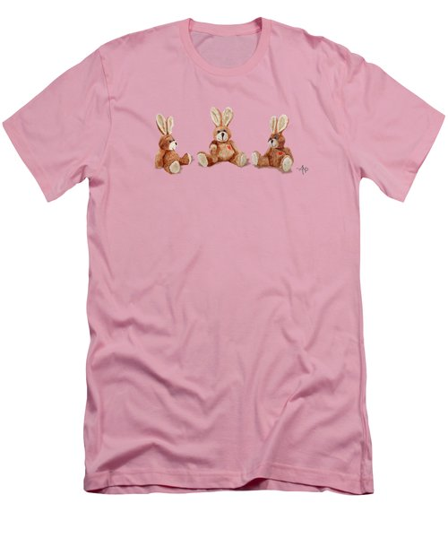 Cuddly Care Rabbit II Men's T-Shirt (Athletic Fit)