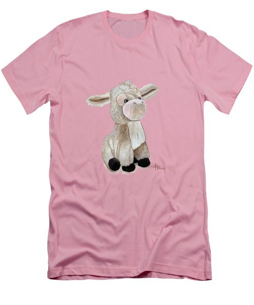Cuddly Donkey Watercolor Men's T-Shirt (Athletic Fit)
