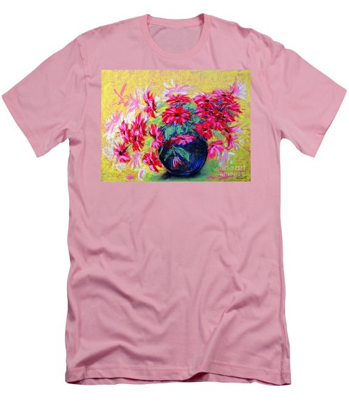 Daisies And Blue Vase Men's T-Shirt (Slim Fit) by Jasna Dragun