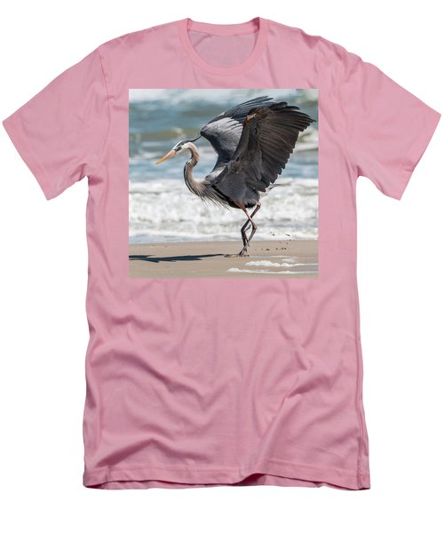 Dancing Heron #2/3 Men's T-Shirt (Slim Fit) by Patti Deters
