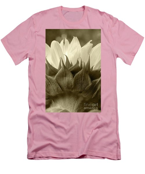 Men's T-Shirt (Slim Fit) featuring the photograph Dandelion In Sepia by Micah May