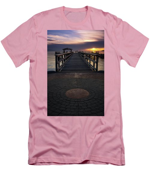 Davis Bay Pier Evening Light Men's T-Shirt (Athletic Fit)