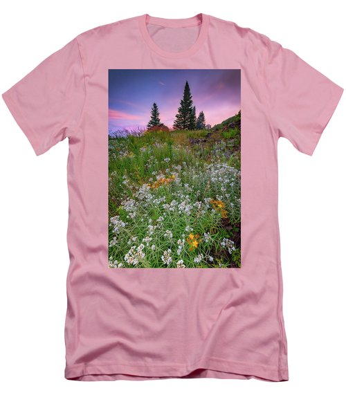 Men's T-Shirt (Athletic Fit) featuring the photograph Dawn At Height Of Land by Rick Berk