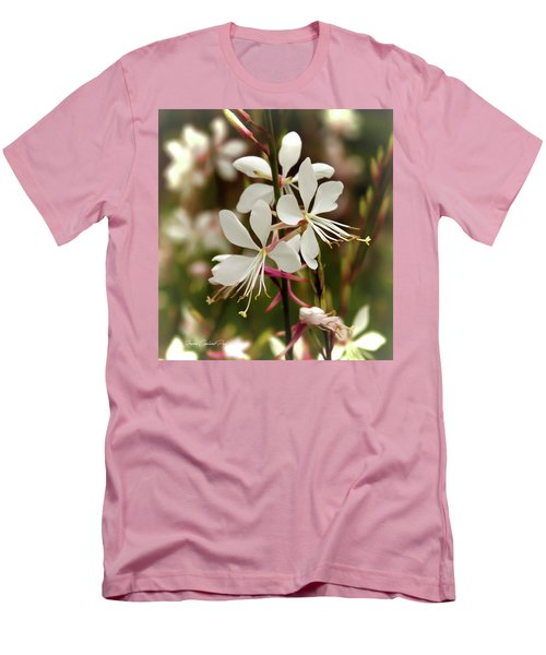 Delicate Gaura Flowers Men's T-Shirt (Athletic Fit)