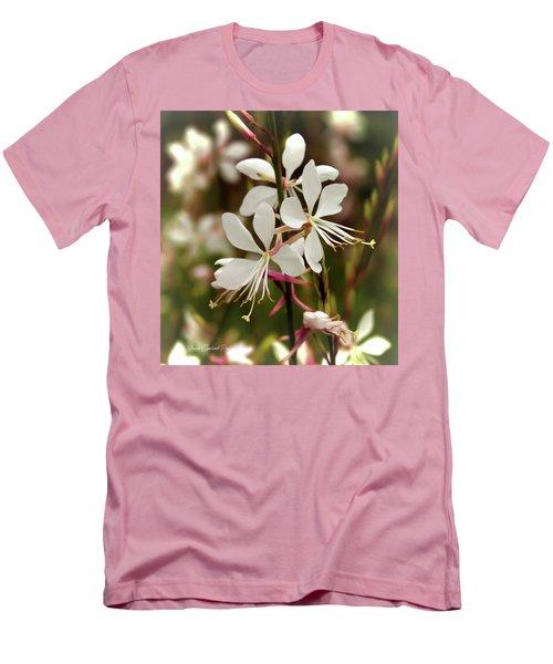 Delicate Gaura Flowers Men's T-Shirt (Slim Fit)