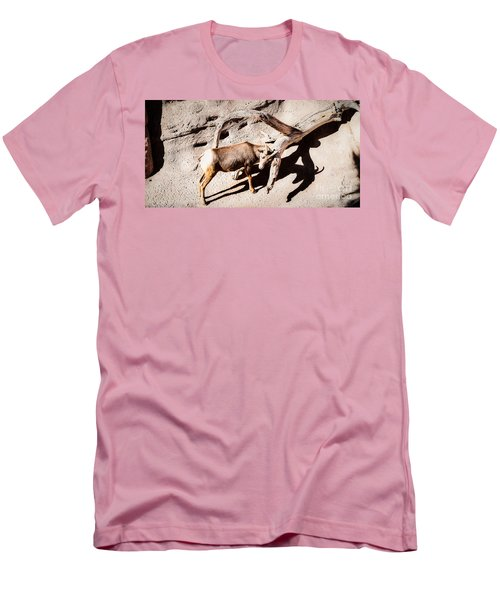 Men's T-Shirt (Slim Fit) featuring the photograph Desert Bighorn Ram by Lawrence Burry