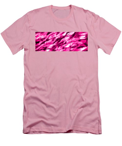 Designer Camo In Hot Pink Men's T-Shirt (Slim Fit) by Bruce Stanfield