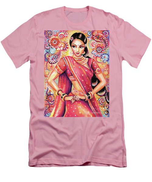 Men's T-Shirt (Slim Fit) featuring the painting Devika Dance by Eva Campbell