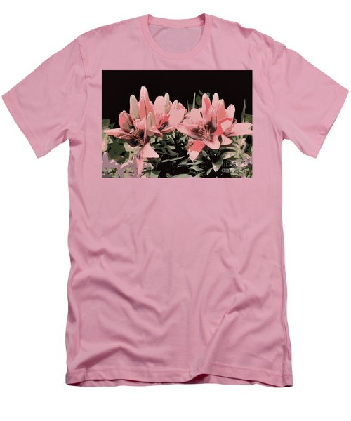 Digitalized Lilies Men's T-Shirt (Athletic Fit)