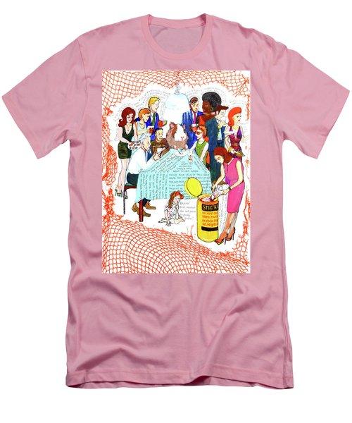 Dinner Party Men's T-Shirt (Athletic Fit)