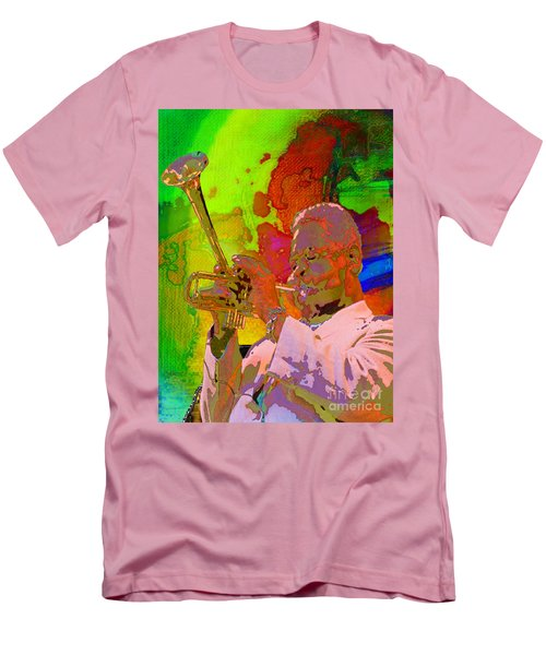 Men's T-Shirt (Slim Fit) featuring the painting Dizzy by Mojo Mendiola