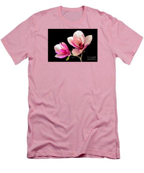 Double Magnolia Blooms Men's T-Shirt (Slim Fit) by Jeannie Rhode