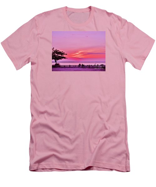 Men's T-Shirt (Slim Fit) featuring the photograph Summer Down The Shore by Susan Carella