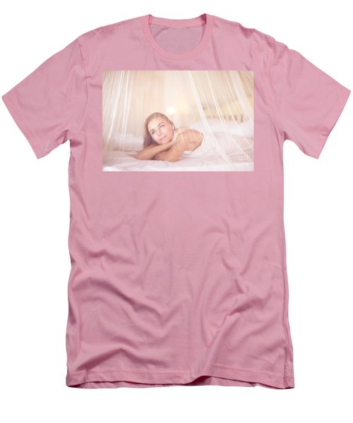 Dreamy Woman In Bedroom Men's T-Shirt (Athletic Fit)