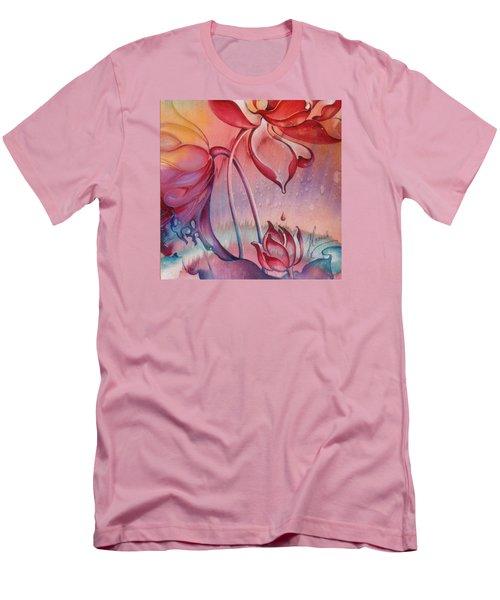 Men's T-Shirt (Slim Fit) featuring the painting Drop Of Love by Anna Ewa Miarczynska
