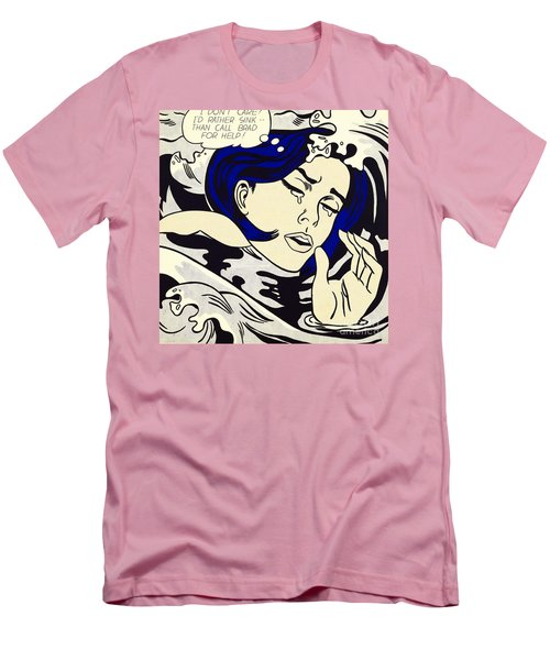 Drowning Girl - Aka Secret Hearts, I Don't Care Or I'd Rather Sink Men's T-Shirt (Athletic Fit)