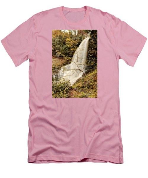 Dry Falls In North Carolina Men's T-Shirt (Slim Fit) by Penny Lisowski