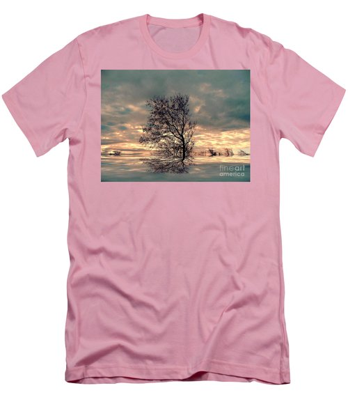 Men's T-Shirt (Slim Fit) featuring the photograph Dusk by Elfriede Fulda