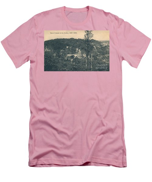 Dyckman Street At Turn Of The Century Men's T-Shirt (Slim Fit) by Cole Thompson