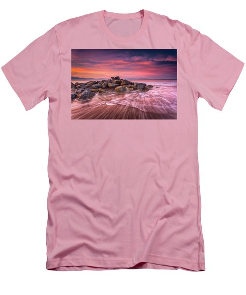Earth, Water And Sky Men's T-Shirt (Slim Fit) by Edward Kreis